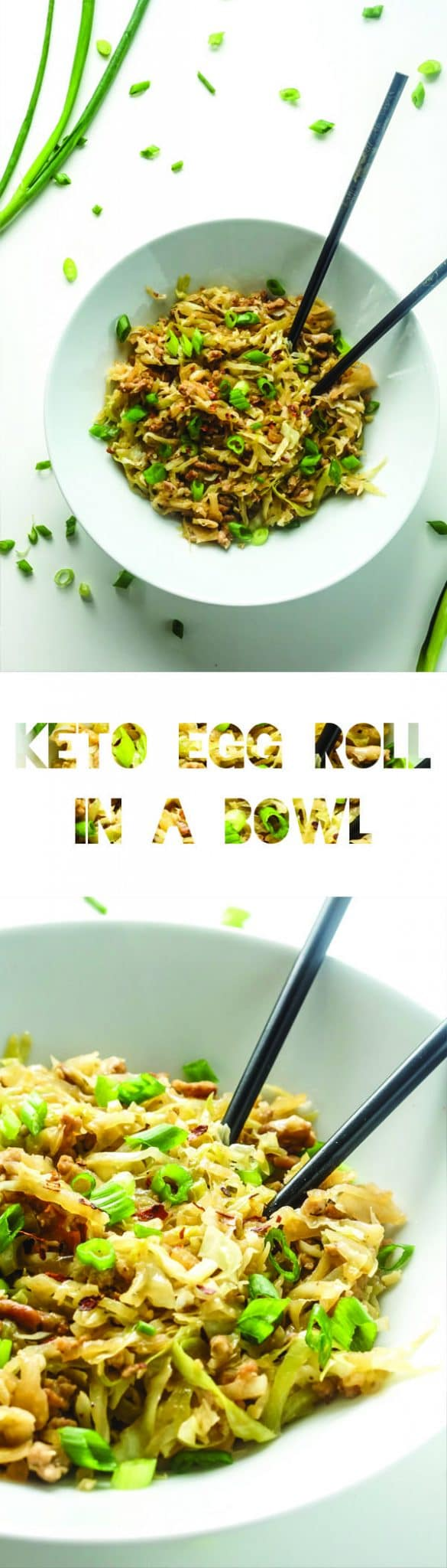 Keto Egg Roll in a Bowl Recipe   Cabbage   Low Carb Vegetable   Atkins   LCHF
