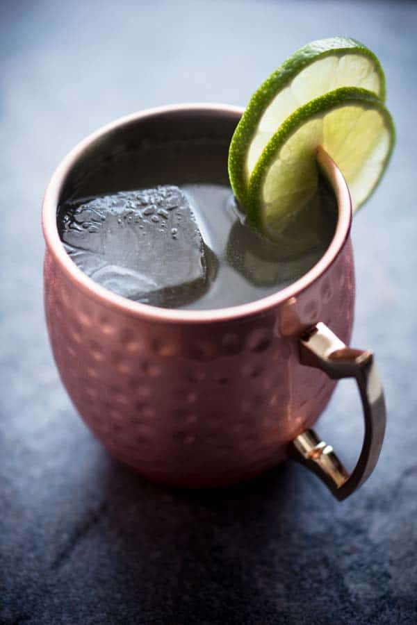 Low Carb Keto Cocktail with Vodka - Moscow Mule