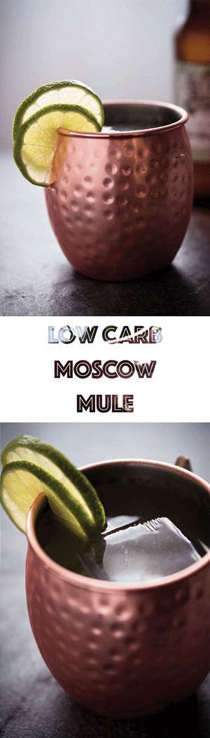 Low Carb Moscow Mule Recipe - Keto Vodka Cocktails with Diet Ginger Beer