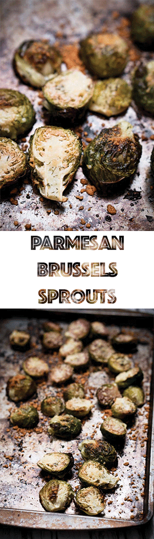Parmesan Crusted Brussels Sprouts Recipe - Low Carb, Keto, Vegetarian