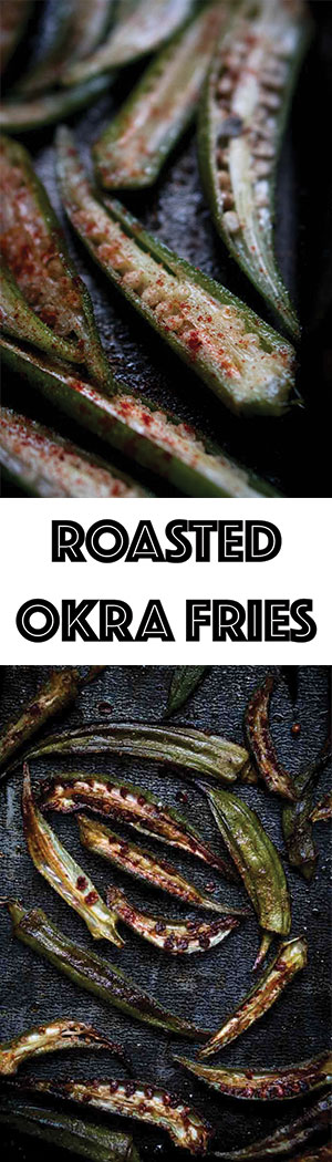 Oven-Roasted Okra Fries with Smoked Paprika & Garlic - Low Carb, Keto Friendly