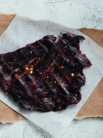 Keto Beef Jerky Made in Smoker without Sugar