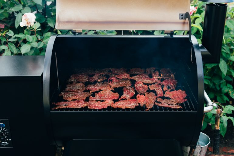 Smoked Beef Jerky on Traeger Grill
