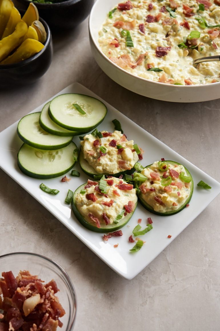 Carbs in Egg Salad - Cucumber Slices